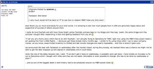 Koum's original FT post on lighting a fire under Facebook because of an award flight.