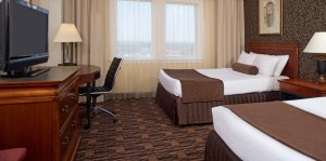 Guestroom at the Crowne Plaza Houston-Downtown