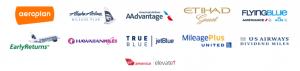 Rocketmiles' airline partners.