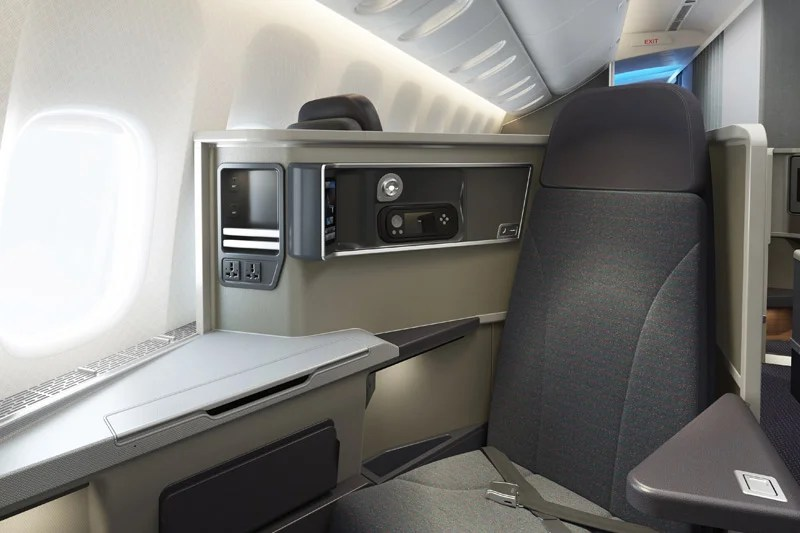 Instead of sitting in coach, you could be sitting in one of these brand-new business-class seats on American!