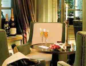 Drink champagne at Le Dokhan.