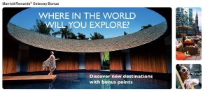 Get bonus points with Marriott's Getaway promotion.