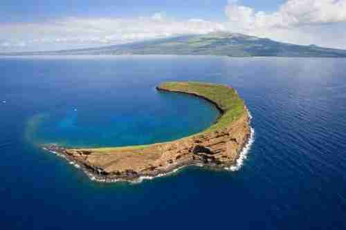 Molokini Crater is off the coast of Maui in Hawaii