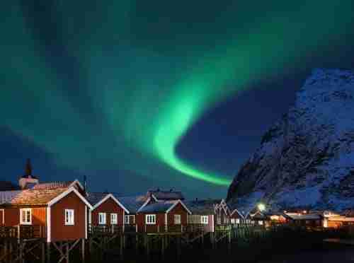 The Aurora from a traditional stilted fisherman