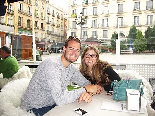 "Brian ""TPG"" and Lori hanging out in Madrid"