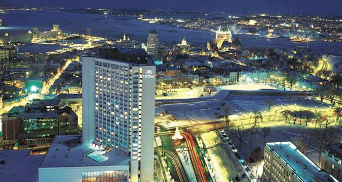 The Hilton Quebec costs more points in June than May, so I thought about using the certificate for the last (most expensive) night of our stay there.