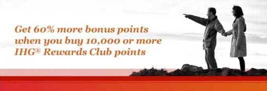 IHG is currently offering a 60% buy points bonus.