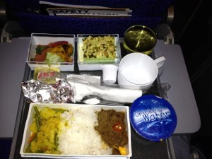 The meal from my second flight - just enough to tide me over.