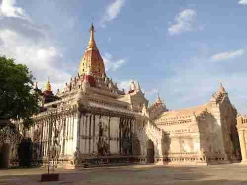 The delicate Ananda temple is the apogee of Bagan architecture.