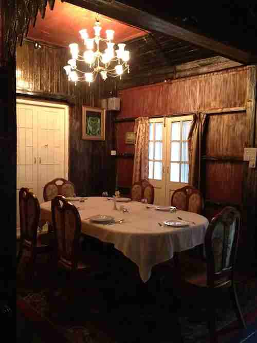 A private dining room in the House of Memories.