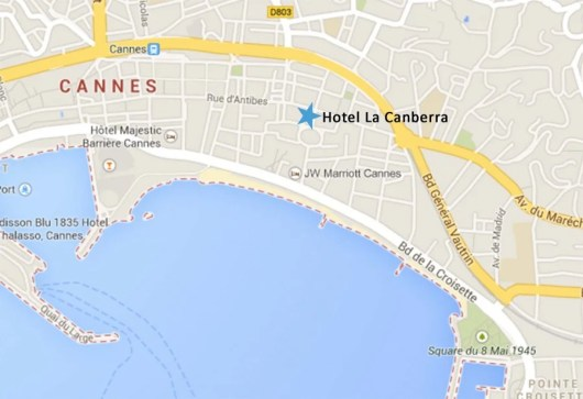 Hotel La Canberra, Cannes France