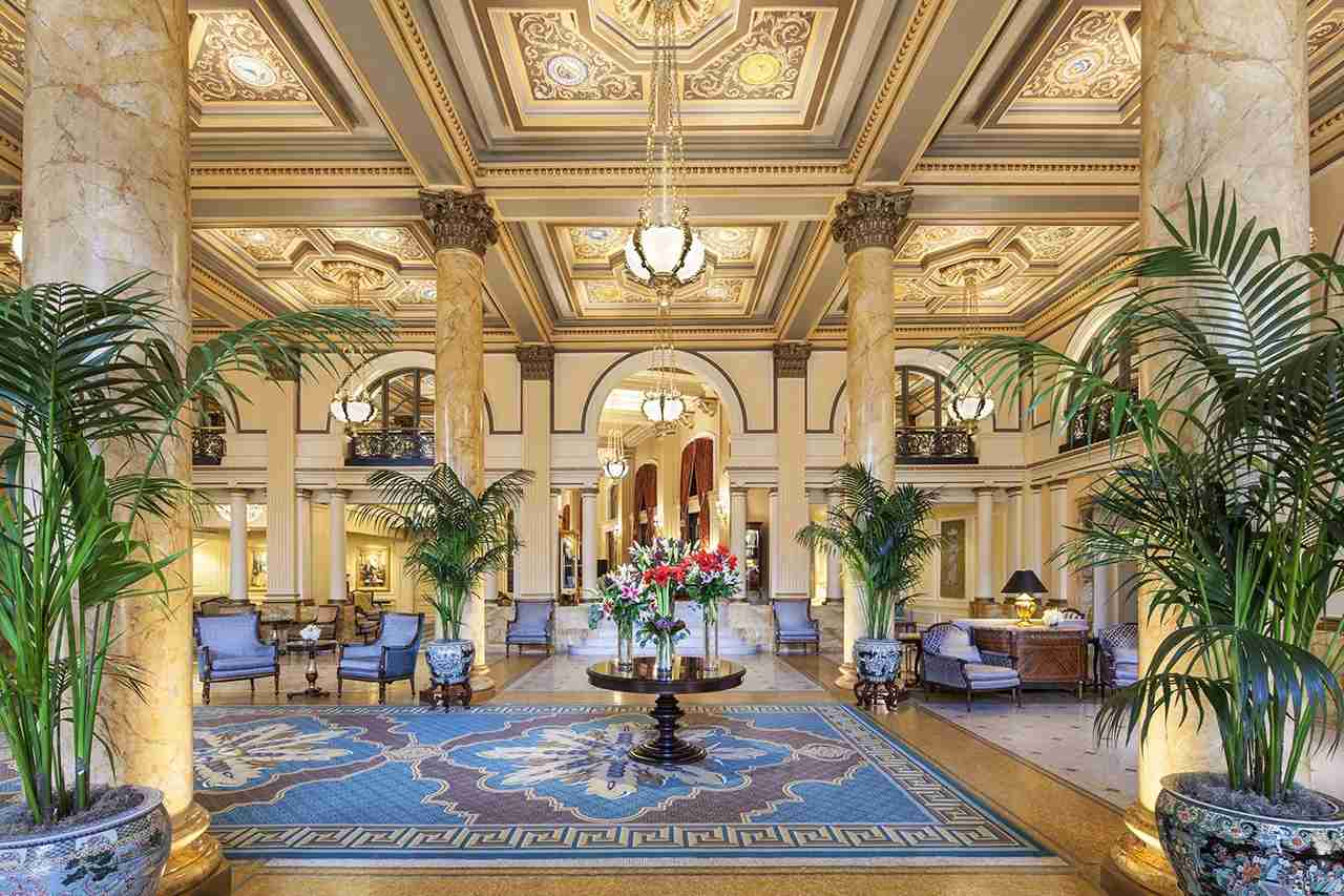 The lobby of the historic Willard hotel on Pennsylvania Avenue in Washington D.C. (Photo courtesy The Willard InterContinental)