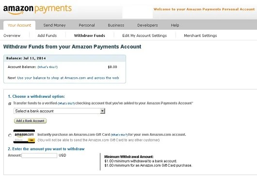 Amazon Payments – Send and Receive Money with a Credit Card – The
