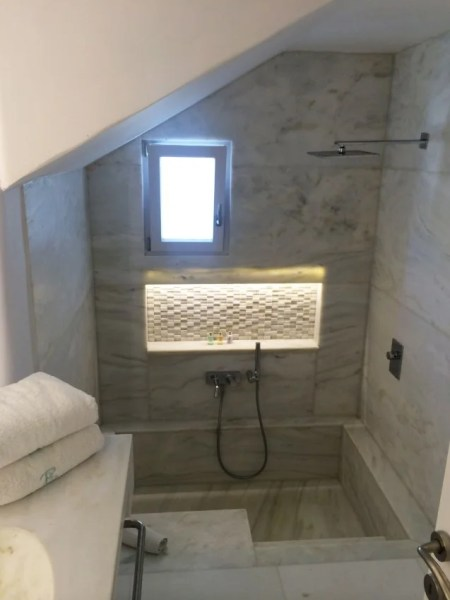 Fancy tub/shower combo in my bathroom
