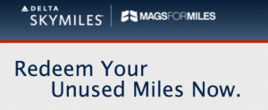 You can redeem your miles for magazines as well.