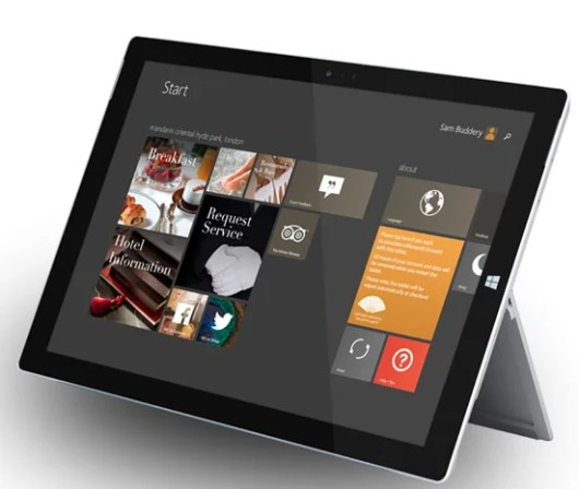 The tablet-based iRiS technology enables guests to access a slew of services from their hotel rooms.