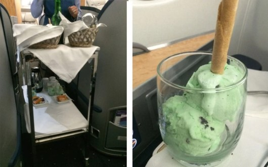 No big deal, just a dessert cart and some ice cream at 30,000 feet