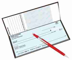 Your checkbook - which includes your name, address and your bank