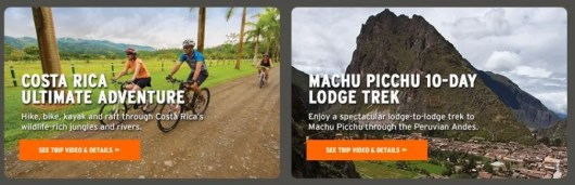 Choose to win one of four adventure trips from REI