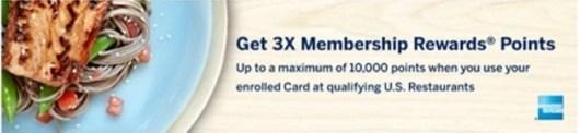 Amex Membership Rewards restaurant bonus banner
