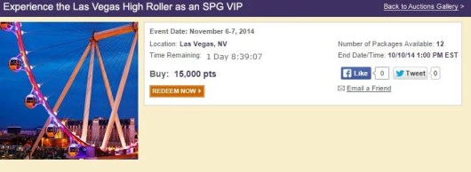 An SPG Experience in Las Vegas--you can use your Starpoints to book.