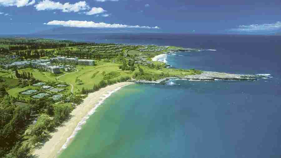 You can use the free night sign-up bonus at a variety of properties, including the Ritz in Kapalua, Maui.