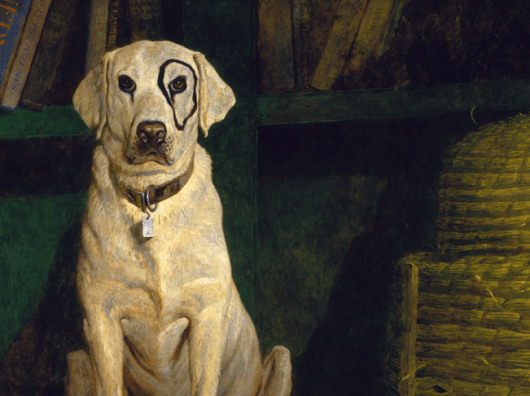 "Jamie Wyeth's oil painting, ""Kleberg"" (1984)"