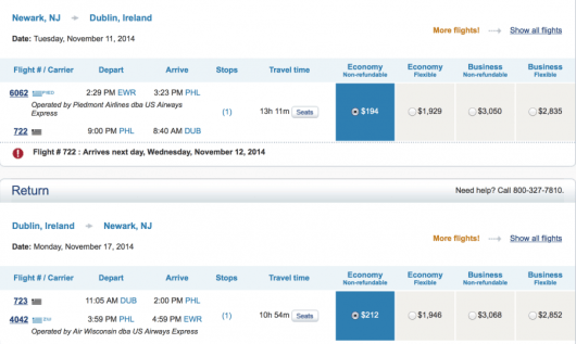 Fly from EWR to DUB for only $405 roundtrip.