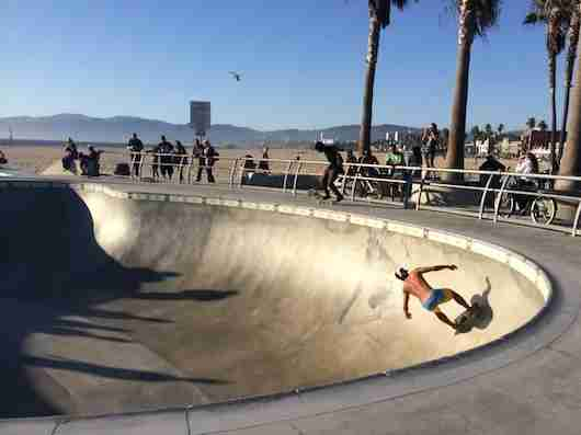 A little Dogtown action at the Venice Beach Skate Park. Photo by Shayne Benowitz.