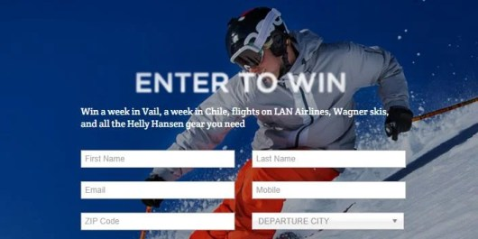 Win two ski trips and ski gear for two people