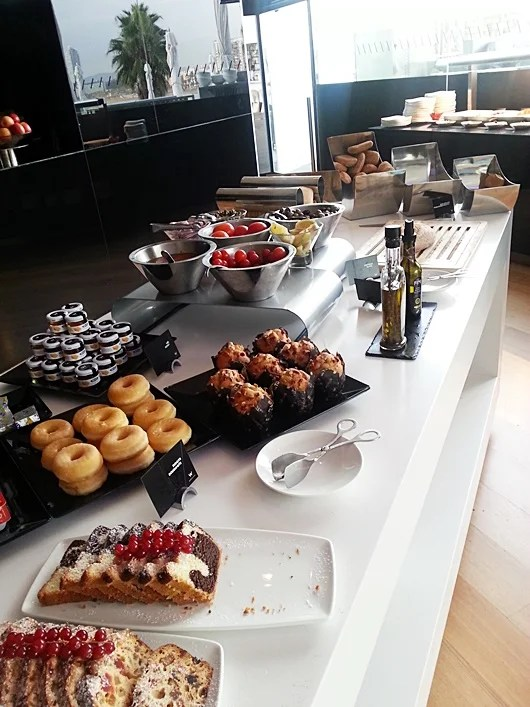 Pastries at the buffet