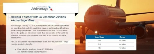 Earn 4X AA miles for Wyndham stays