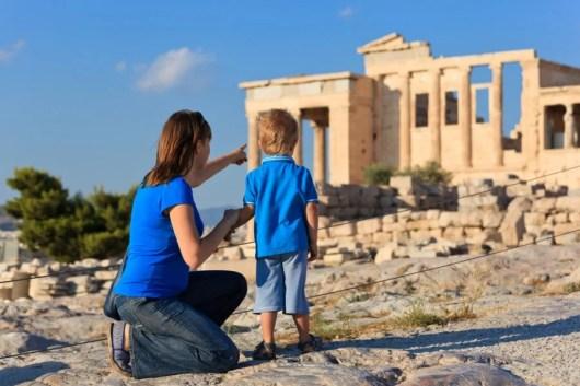 Family Vacation Travel Greece Acropolis