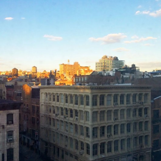 The view of Tribeca from my seventh-floor room