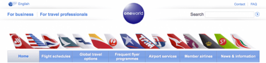 US Airways is a member of Oneworld, but has other airline partners as well.