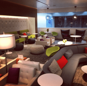 Spacious seating area at the new centurion lounge.