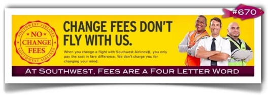 Southwest Airlines no change cancellation fees