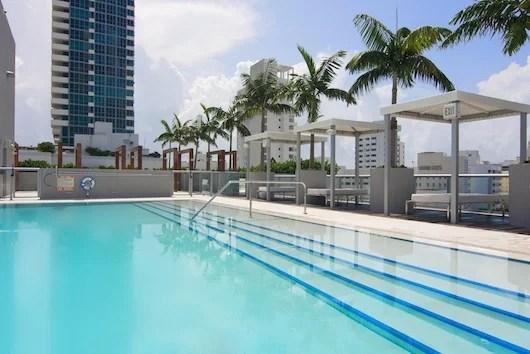 Rooftop pool at Villa Bagatelle.