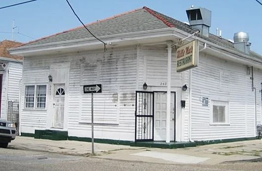 The no frills facade of Willie Mae's in New Orleans' Seventh Ward.