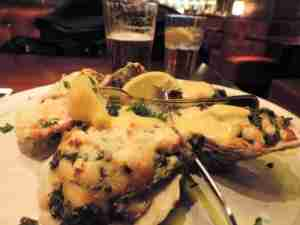 Oysters Pappadeux with crabmeat, spinach and hollandaise (oh, my) at DFW