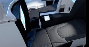 The 80-inch-long lie-flat seats on JetBlue