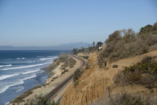 The Amtrak Starlight has some amazing Pacific Ocean views. Photo courtesy of Shutterstock.