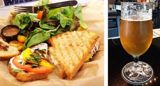 At SAN's Stone Brewing Co., hot sandwiches and  and beer make for a delightful trip