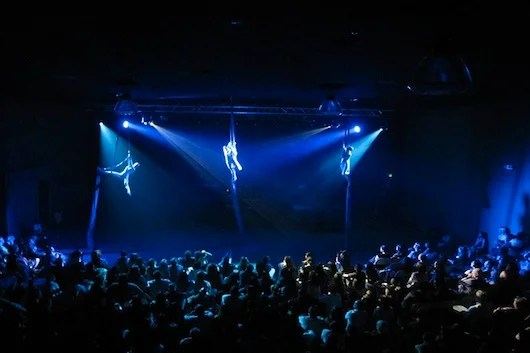 Aerialists at Austin's The Marchesa.