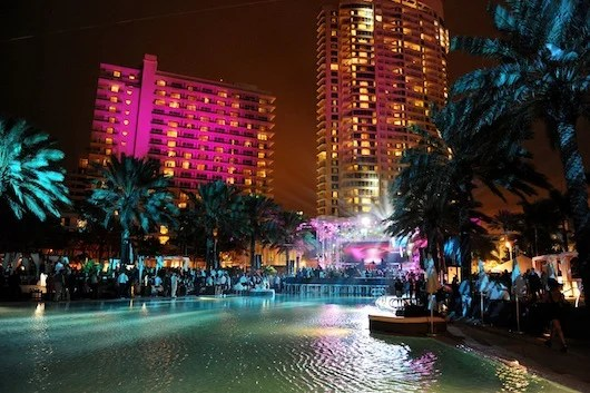 New Year's Eve poolside at The Fontainebleau.