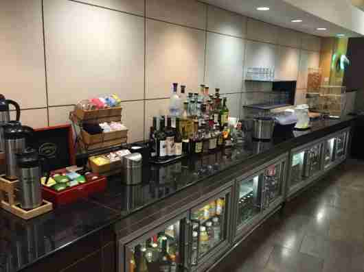 The Flagship Lounge bar was well-stocked