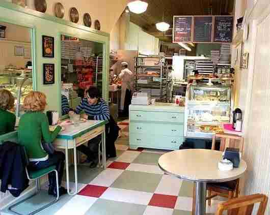 The quirky interior of Hoosier Mama.