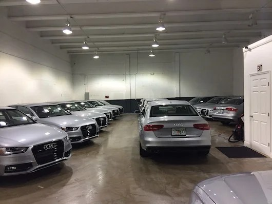 MIA's inventory of Audi A4s.