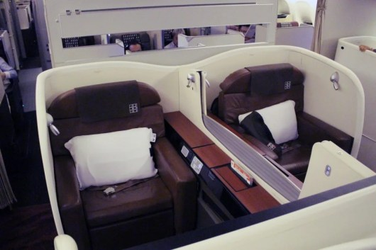Japan Airlines first class is a great way to fly to Tokyo- especially on miles!