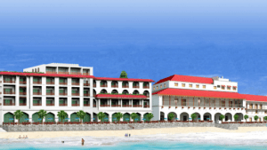 A rendering of the Park Hyatt Zanzibar on the beach in Stone Town.